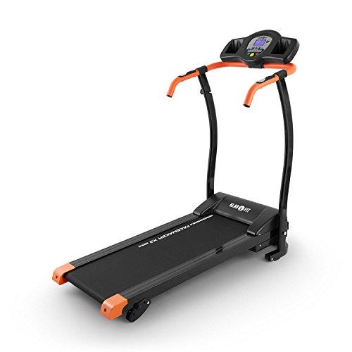 Klarfit Pacemaker X3 Tapis Roulant 1,5 HP 12 km/h Cardiofrequenzimetro Nero - Arancione