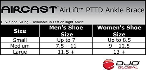 Aircast AirLift PTTD Ankle Brace - Small Left