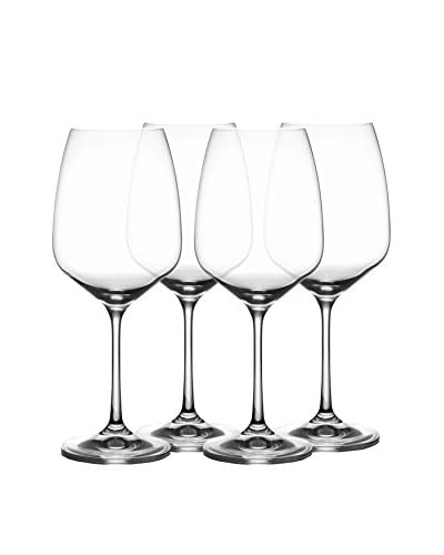 Jay Imports Set of 4 Giselle Goblets, Clear