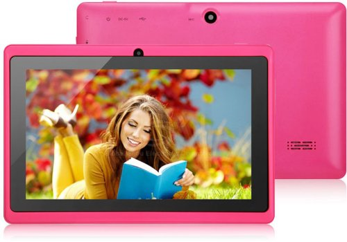 FastTouch(TM) 7 INCH DUAL CAMERA TABLET PC – PINK 4GB, GOOGLE ANDROID 4.1, ALLWINNWER A13 BOXCHIP CORTEX A8, 512MB RAM, MULTIILPE TOUCH SCREEN, WIFI, SKYPE, NETFLIX MOVIES