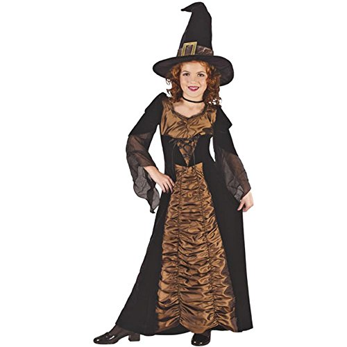 Kid's Elegant Coffin Witch Costume (Size:Sm 4-6)