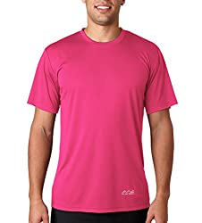 AWG Men's Jersey Round Neck Dryfit T-shirt - Pink - AWGDFT-PNK-S