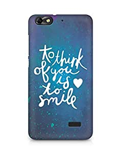 AMEZ to think of you is to smile Back Cover For Huawei Honor 4C