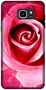 The Racoon Lean printed designer hard back mobile phone case cover for Samsung Galaxy Note 5. (Red Rose)