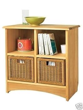 regal beistelltisch aus kiefernholz cremefarben db927. Black Bedroom Furniture Sets. Home Design Ideas
