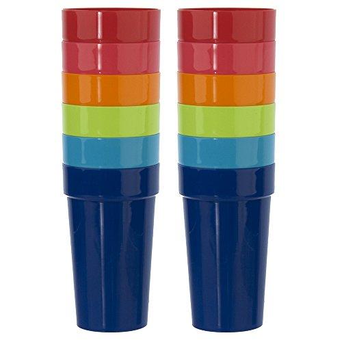 set-of-12-spectrum-unbreakable-plastic-20oz-water-tumblers-in-6-assorted-colors