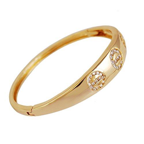 Find-me Fashion Korean Gold Bracelet(F1) (Homemade Infant Frog Costume)