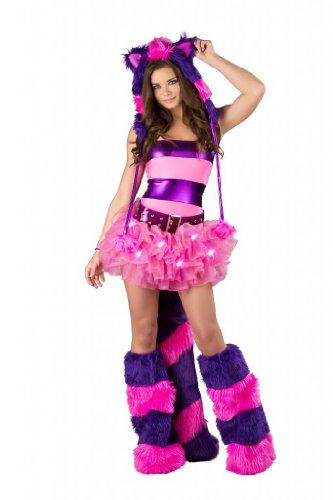 Women Sexy Cheshire Cat Costume (Complete) by Nelasportswear