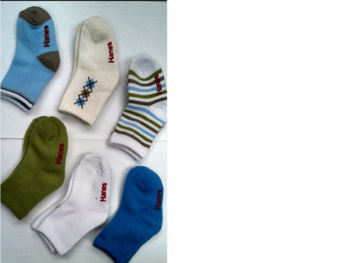 Hanes Toddler Boys Non-Skid Crew Socks P6,26/6,2T-3T, Assorted Apparel  Accessories Clothing Baby Clothing Baby Tights - Hanes Toddler Boys Non-Skid Crew Socks P6,26/6,2T-3T, Assorted