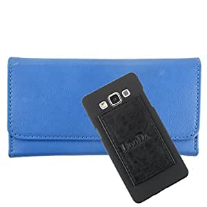 DooDa PU Leather Wallet Flip Case Cover With Card & ID Slots For Panasonic Eluga L2 - Back Cover Not Included Peel And Paste