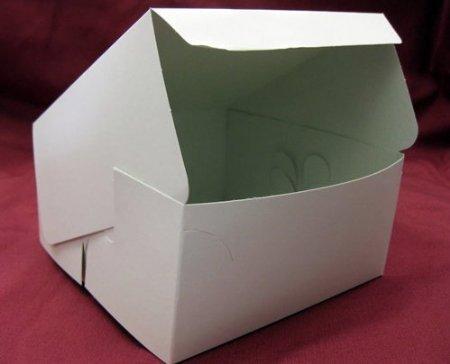 AVM - Caja de cartón para pasteles (100 unidades, 15x15x7cm aprox.), color blanco