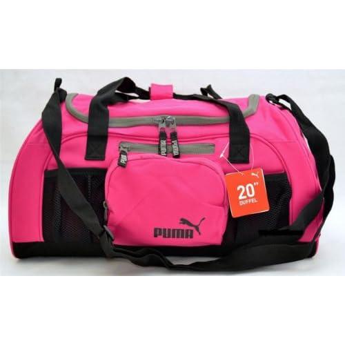 """Amazon.com: Puma Accelerator 20"""" Pink Black Duffle Bag Gym ..."""