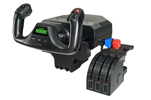 Saitek Pro Flight Yoke with Three-Lever Throttle (PZ44)