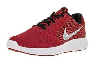 Nike Men's Revolution 3 University Red/Metallic Silver/Blck/Wht Running Shoe 9 Men US