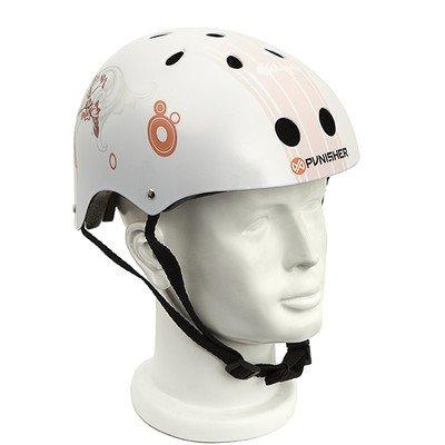 Punisher Skateboards Cherry Blossom Multi-Sport Pink Skateboard Helmet 11-vent Size Medium with Extra Helmet Pads Included