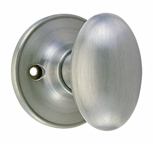 Design House 750620 Egg Dummy Door Knob, 2-Way Latch, Satin Nickel ...