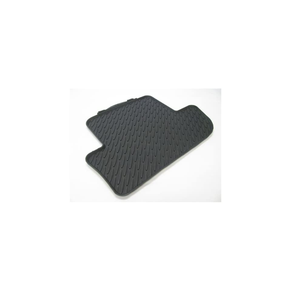 BMW All Weather Rear Rubber Floor Mats 645 650 M6 Coupe & Convertible (2011 onwards)   Black