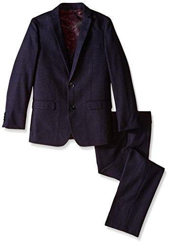 Isaac Mizrahi Big Boys' 3 Piece. Raindrop Suit, Navy, 8