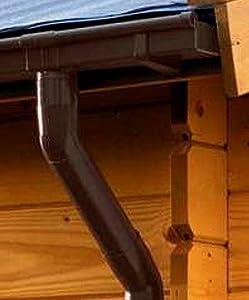 Dachrinne KASTENFORM Rinnensatz Regenrinne 1x500cm KomplettSet mit wählbaren Farben (Braun)  BaumarktÜberprüfung und Beschreibung