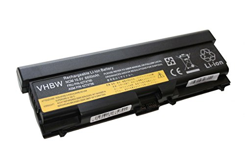 "vhbw Li-Ion Batterie 6600mAh (10.8V) pour ordinateur portable, Notebook Lenovo ThinkPad Edge 14"" 05787WJ, 14"" 05787XJ, 14"" 05787YJ, 15"" comme 42T4235."