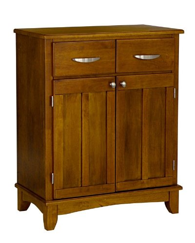 Cheap Server Sideboard with Wood Top in Cottage Oak Finish (VF_HY-5001-0066)