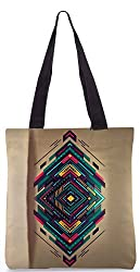 Snoogg Spiral Zoyd Poly Canvas Tote Bag