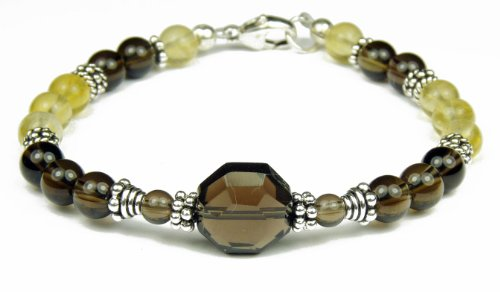 Damali Feminine Mystique Intention Bracelets with Meaning in Sterling Silver - Small 6.5 Inches