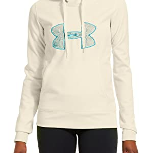 Under Armour Ladies Fleece Storm Embroidery Big Logo Hoodie by Under Armour