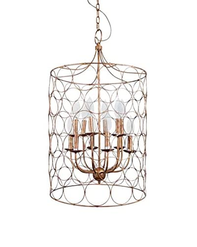 Circles Metal Chandelier, Gold