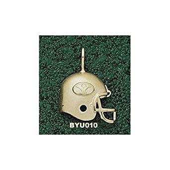 Brigham Young (BYU) Cougars Y Helmet Pendant - 14KT Gold Jewelry by Logo Art