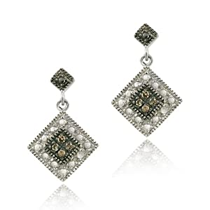 Champagne Diamond Dangle Earrings