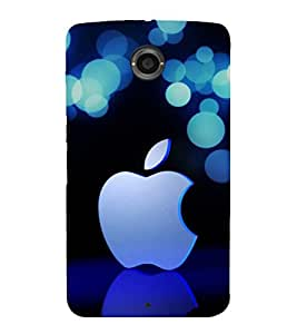 printtech Apple Bokeh Back Case Cover for Motorola Google Nexus 6