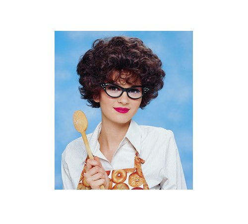 Women's Black Cat Eye 1950's Costume Glasses