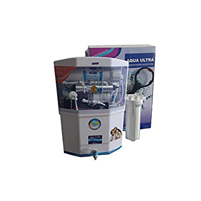 Aquaultra White 14Stage 15lph Ro+Uv+Uf+Mineral+Tds Controller Water Purifier