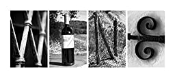 000 Alphabet Photos Word Art WINE. DIY Pre-pack includes Flour (4) 4x6 Alphabet Photographs of Architectural, Industrial and Natural themed items, 1 Pack.