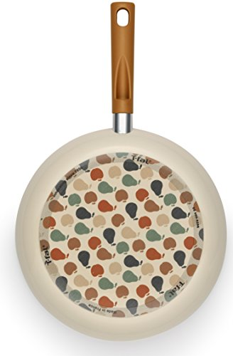T-fal B61304 Tres Chic Nonstick Thermo-Spot Heat Indicator Dishwasher Safe Fry Pan Cookware, 9.5-Inch, Fruity