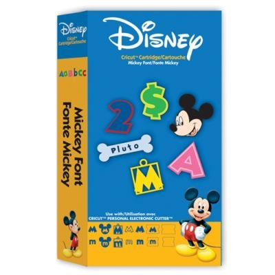 Cricut Disney Cartridge, Mickey Font