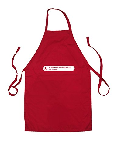 Dressdown Achievement Unlocked - Kids Unisex Fit Apron Red-7-10YRS (Bbq 10 Unlocked compare prices)