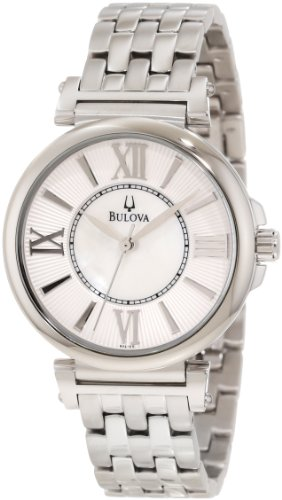 BULOVA 96L156 LADIES STAINLESS STEEL CASE MINERAL WATCH