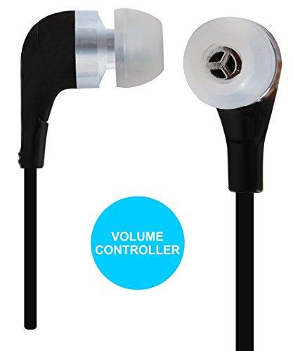 Jkobi Volume Control With Mic Handsfree Earphones Compatible For Lava Iris X1 Atom 8GB -Black  available at amazon for Rs.259