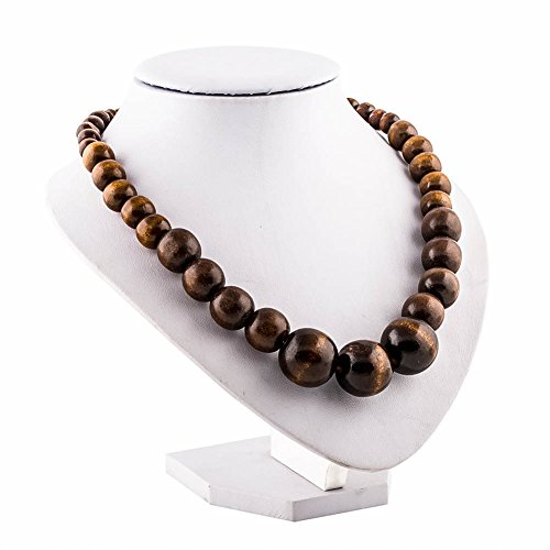 Wood bead necklace evbea africa wooden chain statement unisex chunky wood bead necklace evbea africa aloadofball Choice Image