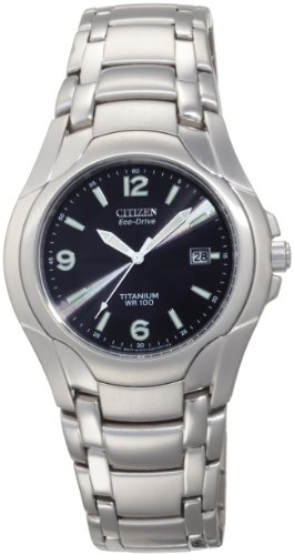Citizen Men&#8217;s BM6060-57F Eco-Drive 180 WR100 Titanium Bracelet Watch