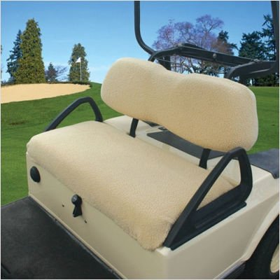 Classic Accessories Fairway Golf Cart Fleece Seat Cover, Sand