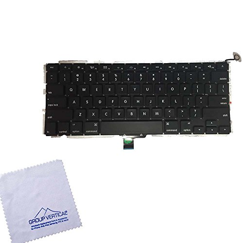 Group Vertical Black Keyboard with Backlight and Flex Assembly For Apple Macbook Pro 13