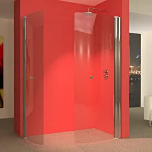 uniarc 1400 x 750 hinged wet room shower screens foldaway