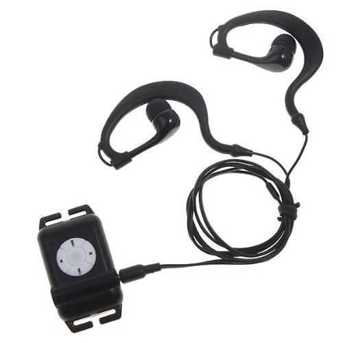 Walsoon Ws531 Waterproof Underwater 4Gb Mp3 Music Player+Fm Radio For Swimming (Black)