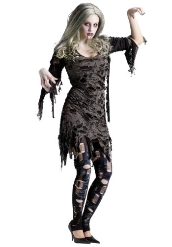 Funworld Womens Scary Tattered Living Dead Zombie Fancy Halloween Costume