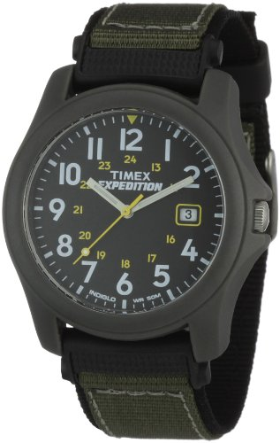 Timex Men's T42571 Expedition Camper Gray/Black Nylon Strap Watch