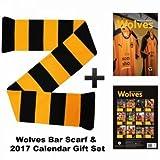 Wolverhampton Wanderers 2017 Calendar & Scarf Gift Set