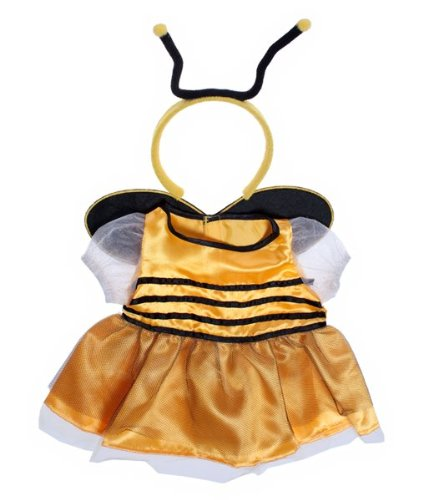 "Bee Dress w/Antenna Dress Outfit Fits Most 8""-10"" Webkinz, Shining Star and 8""-10"" Make Your Own Stuffed Animals and Build-A-Bear"
